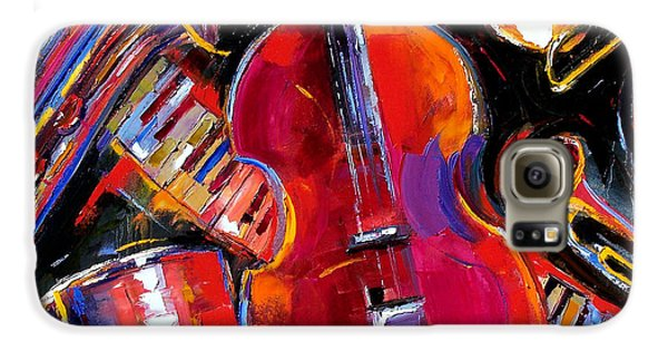 Trombone Galaxy S6 Case - Bass And Friends by Debra Hurd