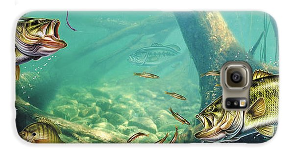 Largemouth Bass Galaxy S6 Case - Bass Lake by JQ Licensing