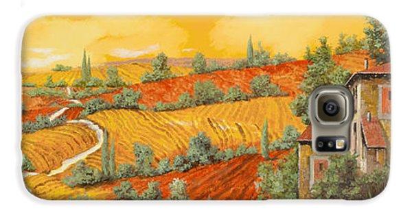 Sunflower Galaxy S6 Case - Bassa Toscana by Guido Borelli