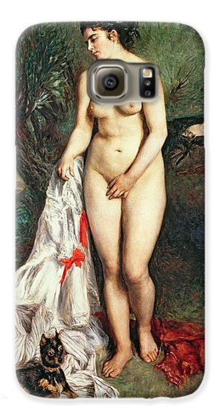 Bather With A Griffon Dog Galaxy S6 Case by Pierrre Auguste Renoir