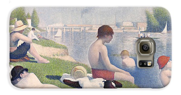 Boy George Galaxy S6 Case - Bathers At Asnieres by Georges Pierre Seurat