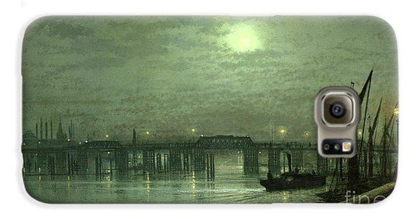 Battersea Bridge By Moonlight Galaxy S6 Case by John Atkinson Grimshaw