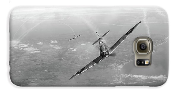 Galaxy S6 Case featuring the photograph Battle Of Britain Spitfires Over Kent by Gary Eason