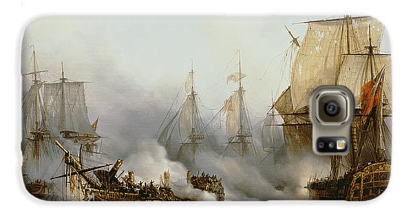 Transportation Galaxy S6 Case - Battle Of Trafalgar by Louis Philippe Crepin