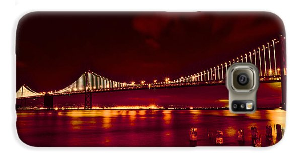 Bay Bridge Lights Galaxy S6 Case by Kim Wilson