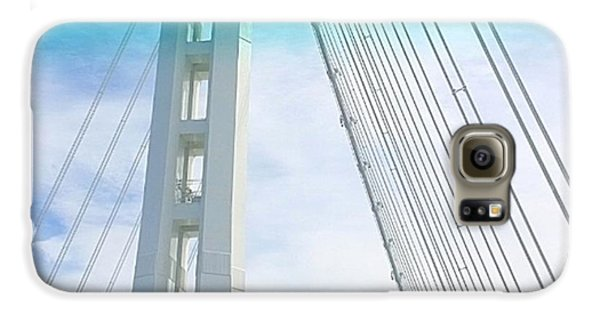 Architecture Galaxy S6 Case - Bay #bridge Section. Love The Aqua Tint by Shari Warren