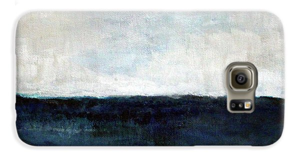 Impressionism Galaxy S6 Case - Beach- Abstract Painting by Linda Woods