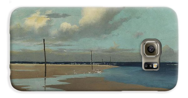 Beach At Low Tide Galaxy S6 Case by Frederick Milner