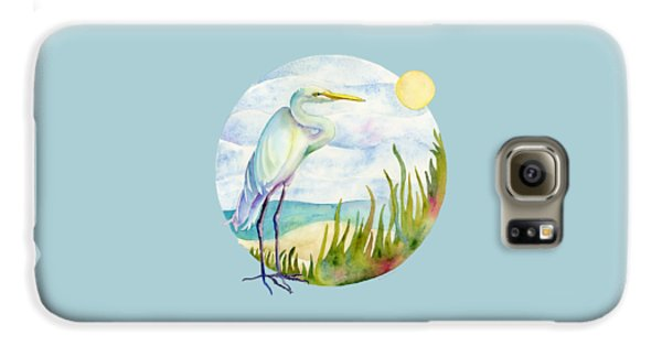 Beach Galaxy S6 Case - Beach Heron by Amy Kirkpatrick