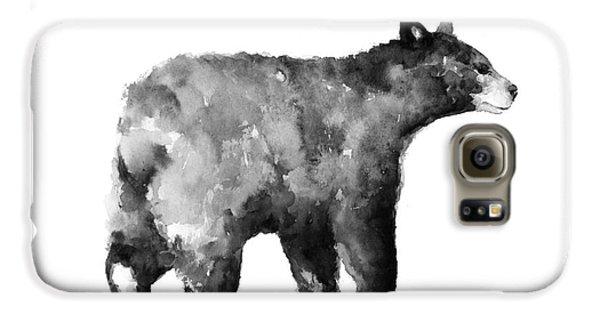 Bear Watercolor Drawing Poster Galaxy S6 Case by Joanna Szmerdt