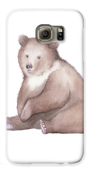 Bear Watercolor Galaxy S6 Case by Taylan Apukovska