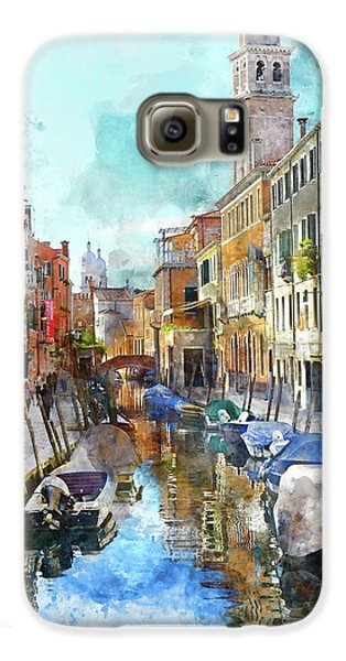 Beautiful Boats In Venice, Italy Galaxy S6 Case