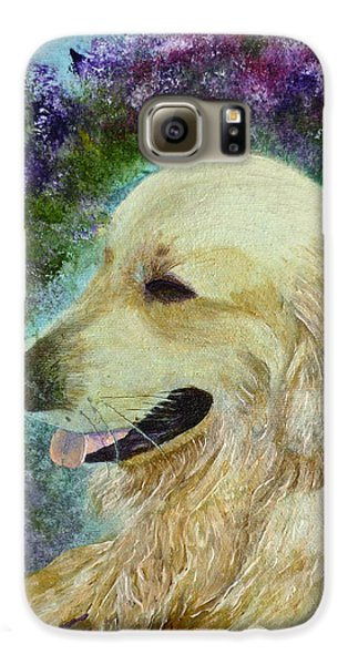 Galaxy S6 Case featuring the painting Beautiful Golden by Claire Bull