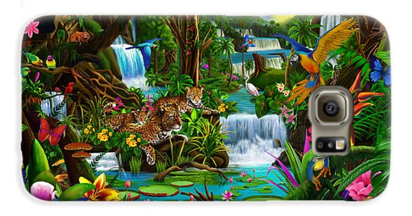 Macaw Galaxy S6 Case - Beautiful Rainforest by Gerald Newton