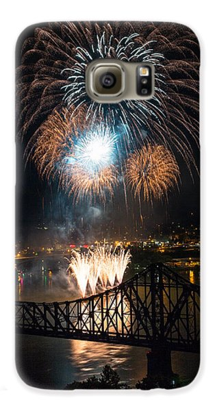 Beaver Galaxy S6 Case - Beaver County Fireworks 2 by Emmanuel Panagiotakis