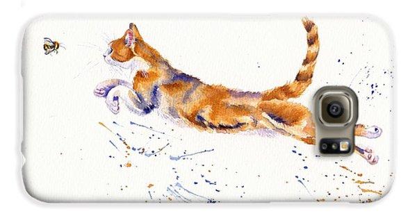 Cat Galaxy S6 Case - Bee Airborne by Debra Hall