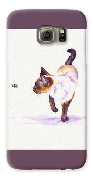 Cat Galaxy S6 Case - Bee Free by Debra Hall