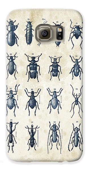 Beetles - 1897 - 03 Galaxy S6 Case by Aged Pixel