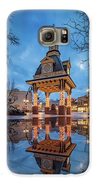 Bell Tower  In Beaver  Galaxy S6 Case by Emmanuel Panagiotakis