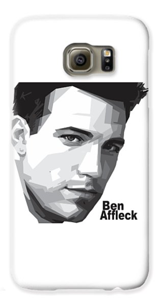Ben Affleck Portrait Art Galaxy S6 Case by Madiaz Roby