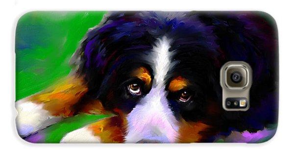 Bernese Mountain Dog Portrait Print Galaxy S6 Case