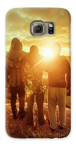 Galaxy S6 Case featuring the photograph Best Friends Greeting The Sun by Jorgo Photography - Wall Art Gallery