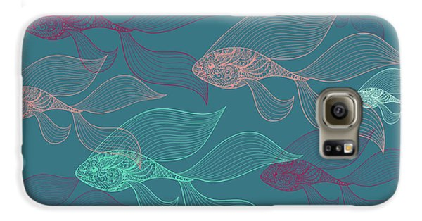 Beta Fish  Galaxy S6 Case by Mark Ashkenazi