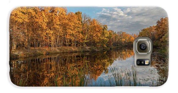 Beyer's Pond In Autumn Galaxy S6 Case