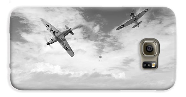 Galaxy S6 Case featuring the photograph Bf109 Down In The Channel Bw Version by Gary Eason