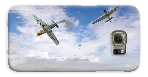 Galaxy S6 Case featuring the photograph Bf109 Down In The Channel by Gary Eason