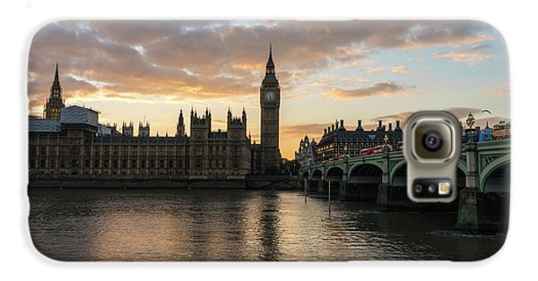 Big Ben London Sunset Galaxy S6 Case by Mike Reid