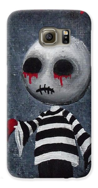 Voodoo Galaxy S6 Case - Big Juicy Tears Of Blood And Pain 1 by Oddball Art Co by Lizzy Love