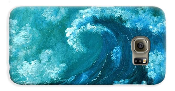 Galaxy S6 Case featuring the painting Big Wave by Anastasiya Malakhova