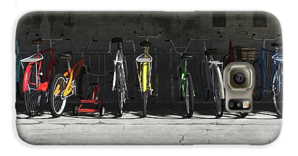Transportation Galaxy S6 Case - Bike Rack by Cynthia Decker