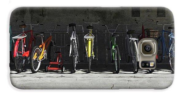 Bike Rack Galaxy S6 Case by Cynthia Decker