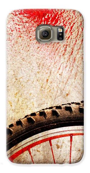 Bike Wheel Red Spray Galaxy S6 Case