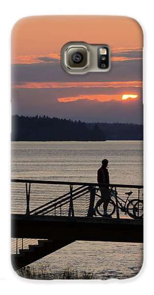 Bikers At Sunset Galaxy S6 Case