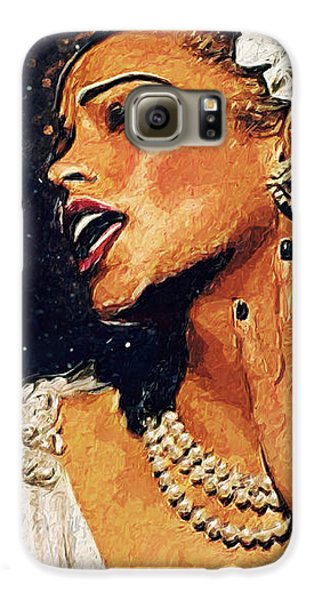 Harlem Galaxy S6 Case - Billie Holiday by Taylan Apukovska