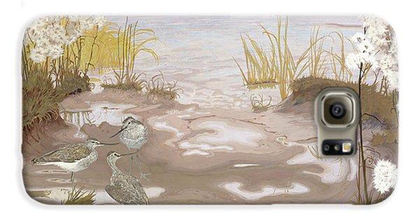 Kingfisher Galaxy S6 Case - Bird On The Mud Flats Of The Elbe by Friedrich Lissmann