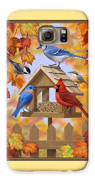 Bluebird Galaxy S6 Case - Bird Painting - Autumn Aquaintances by Crista Forest