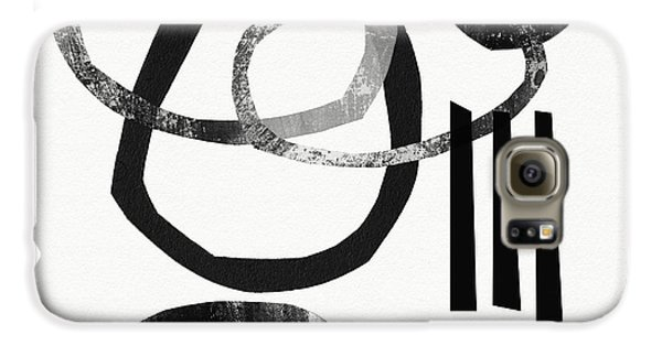 The White House Galaxy S6 Case - Black And White- Abstract Art by Linda Woods