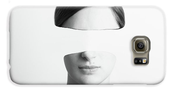 Black And White Abstract Woman Portrait Of Identity Theft Concept Galaxy S6 Case by Radu Bercan