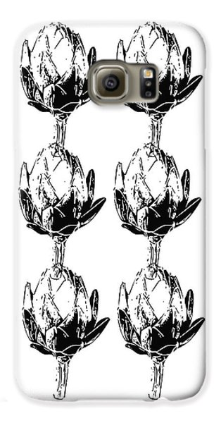 Black And White Artichokes- Art By Linda Woods Galaxy S6 Case by Linda Woods