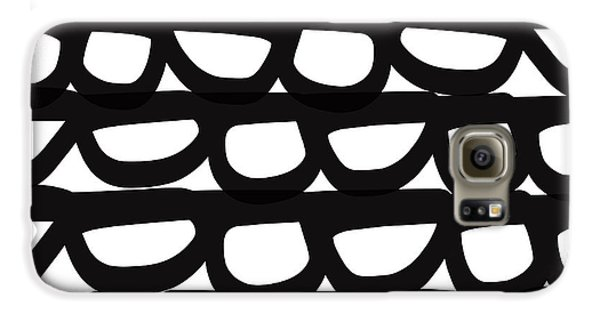 Black And White Pebbles- Art By Linda Woods Galaxy S6 Case by Linda Woods