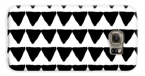 Black And White Triangles- Art By Linda Woods Galaxy S6 Case by Linda Woods