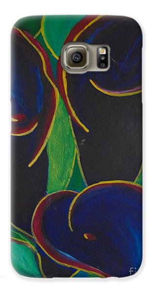Galaxy S6 Case featuring the painting Black Beauty by Saundra Johnson