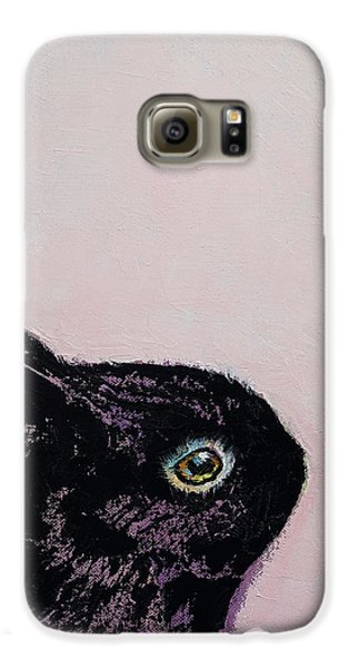 Black Bunny Galaxy S6 Case by Michael Creese