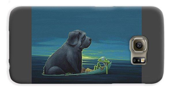 Black Dog Galaxy S6 Case by Jasper Oostland