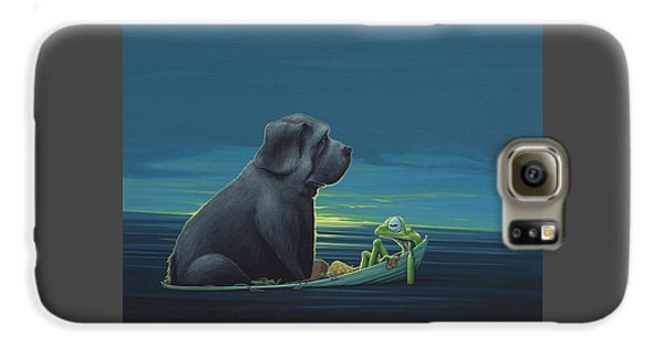 Amphibians Galaxy S6 Case - Black Dog by Jasper Oostland