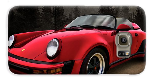 Black Forest - Red Speedster Galaxy Case by Douglas Pittman